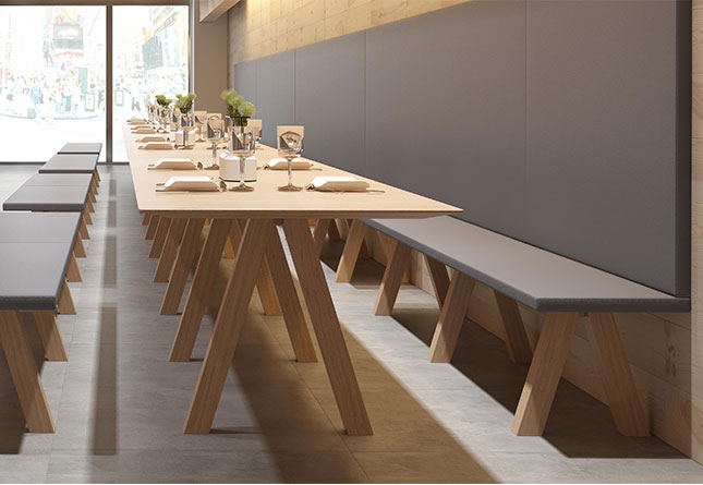 Trestle Table By Viccarbe Hub Furniture Lighting Living