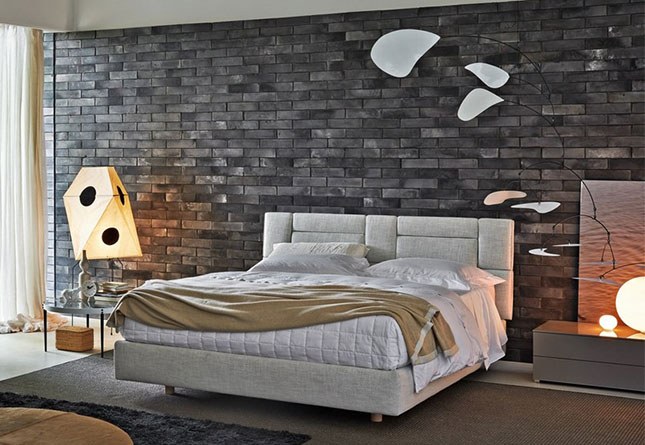 brick wallpaper bedroom nature by molteni amp c hub furniture lighting living 10945